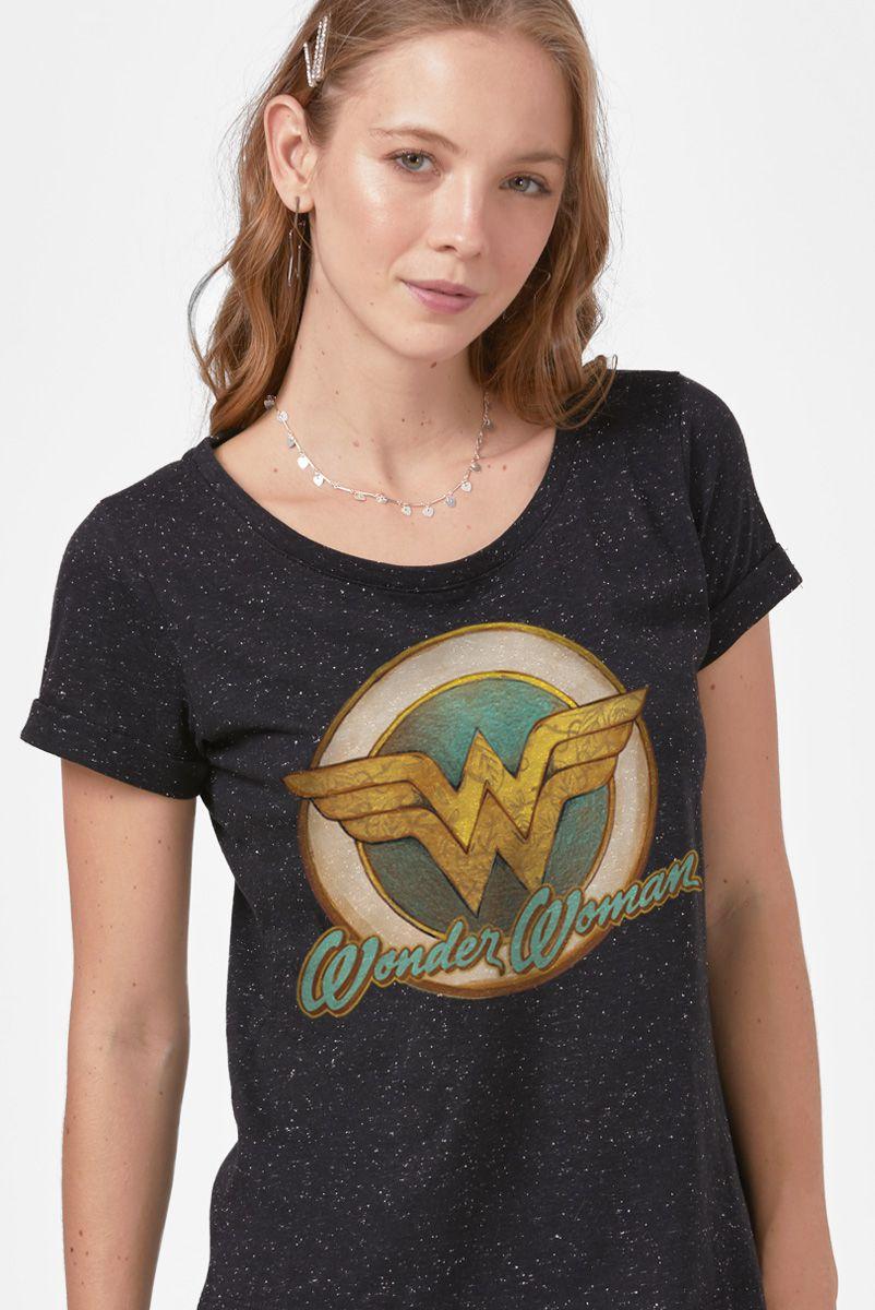 NÃO ATIVAR Camiseta Feminina Mulher Maravilha Vintage