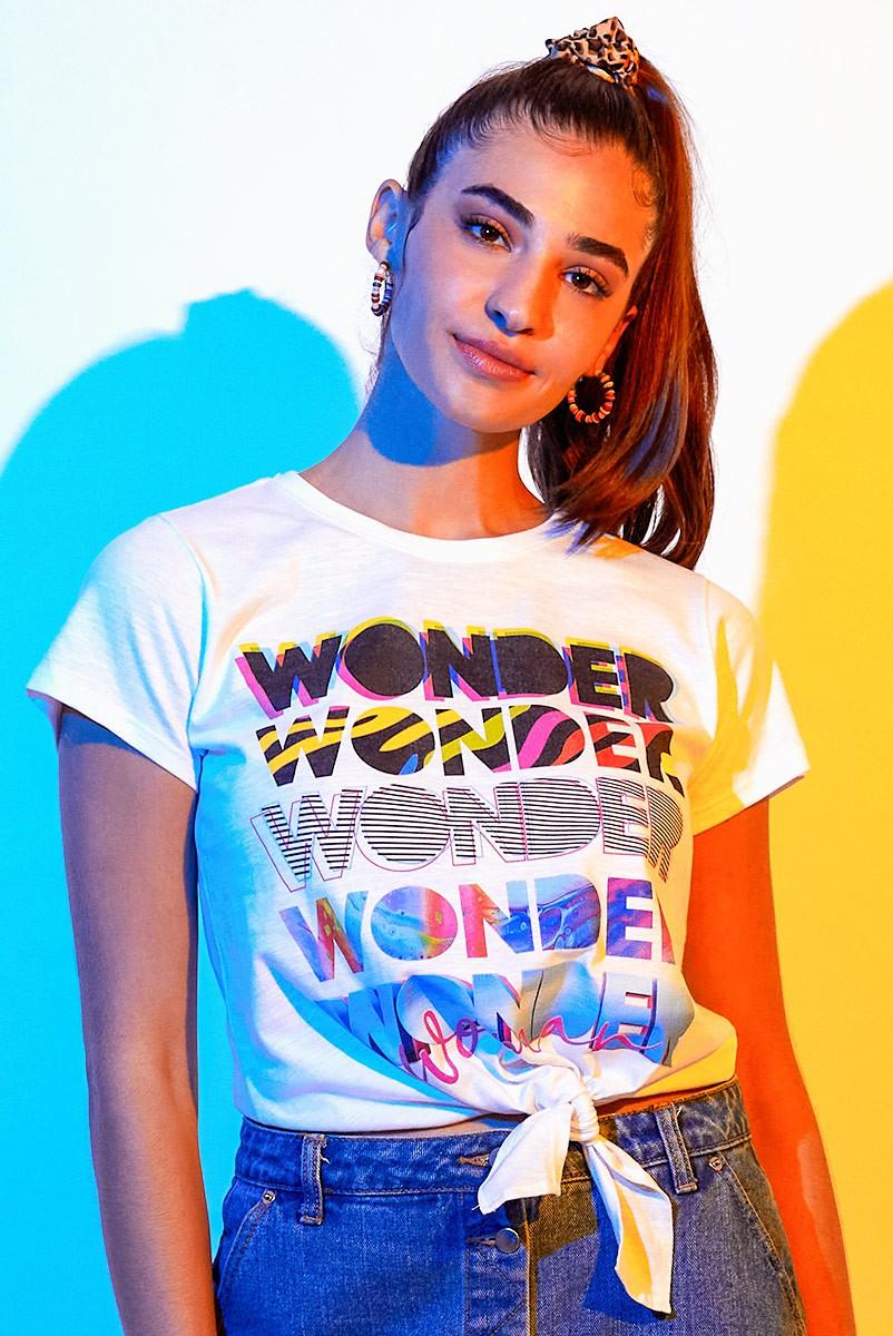 Camiseta Feminina Nózinho Mulher Maravilha 1984 Wonder Woman