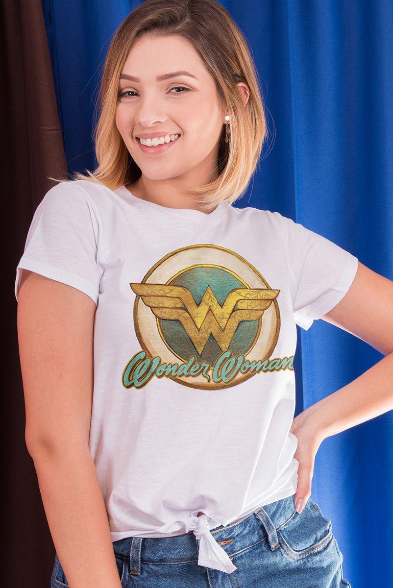 Camiseta Feminina Nozinho Mulher Maravilha Vintage