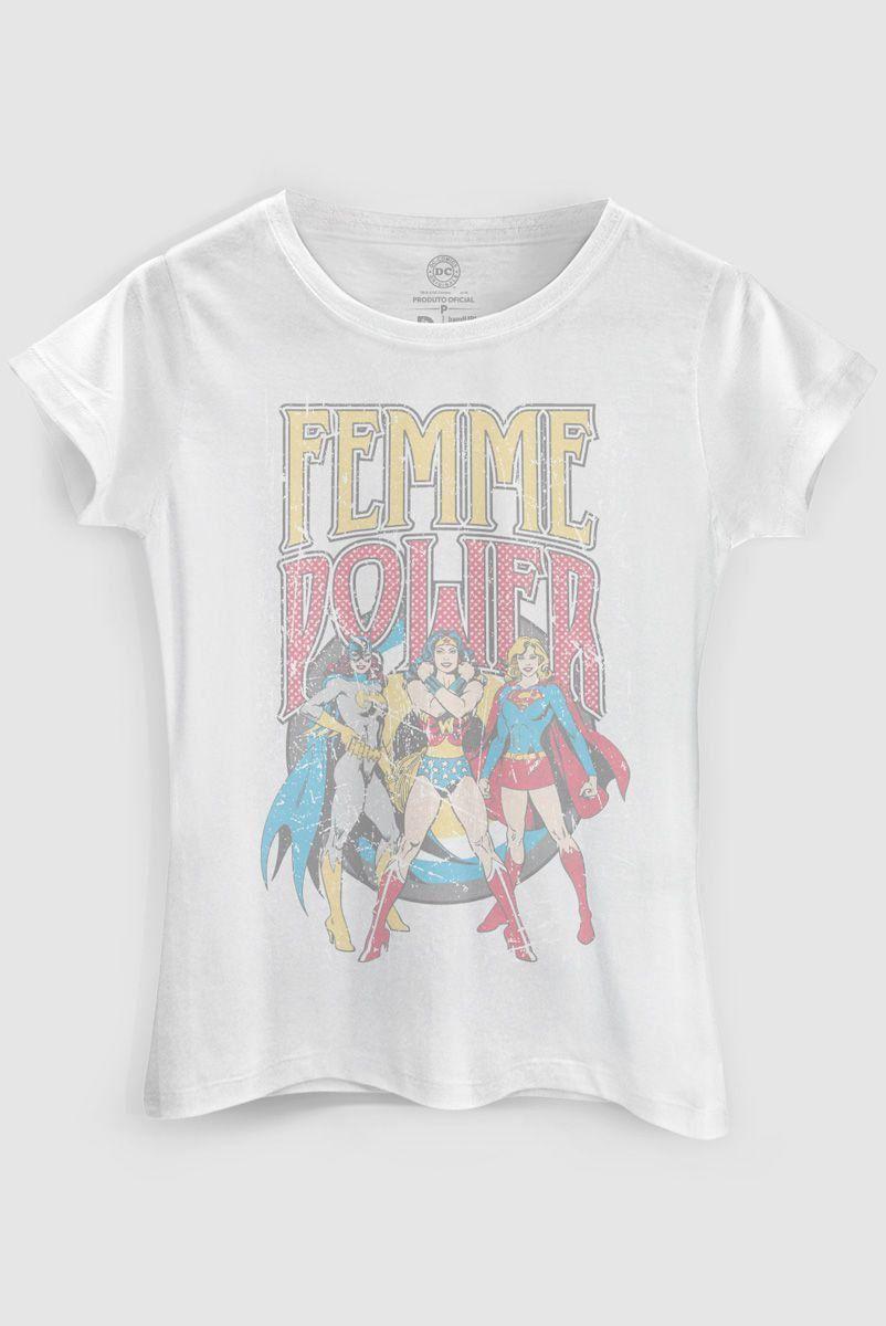 Camiseta Feminina Power Girls Femme Power