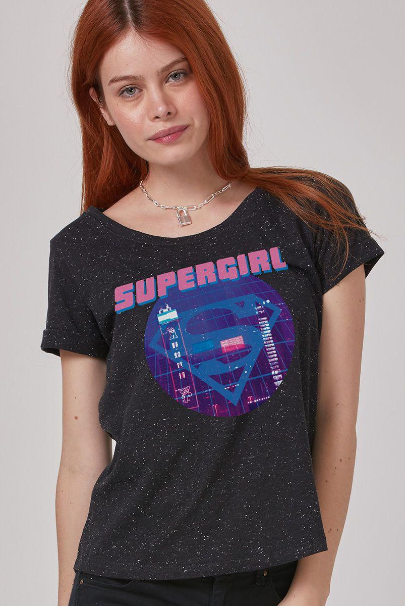Camiseta Feminina Supergirl Disco