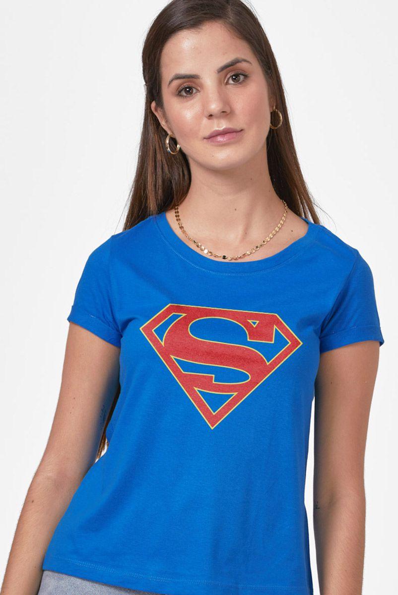 Camiseta Feminina Supergirl Logo