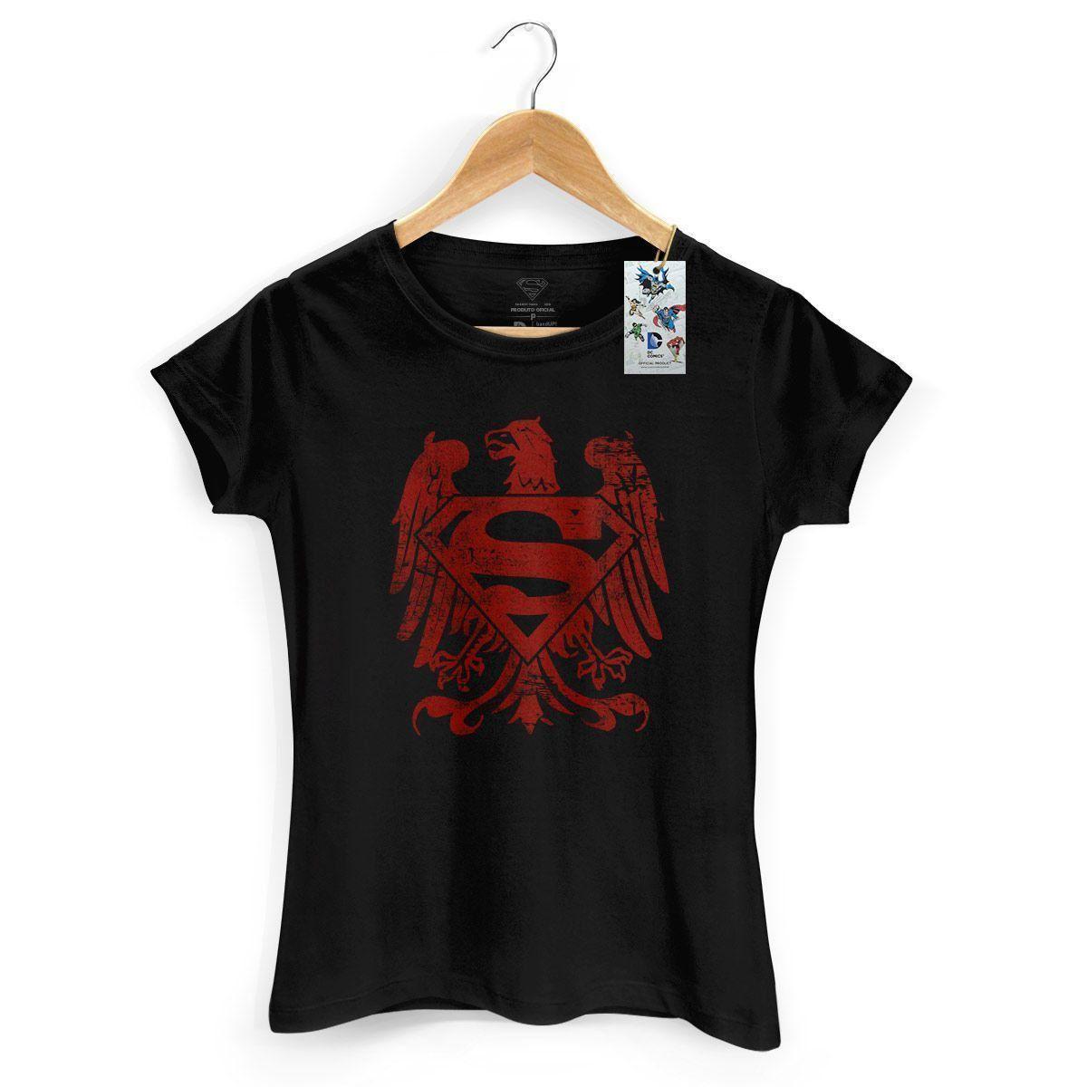 Camiseta Feminina Superman Clássica Águia Americana