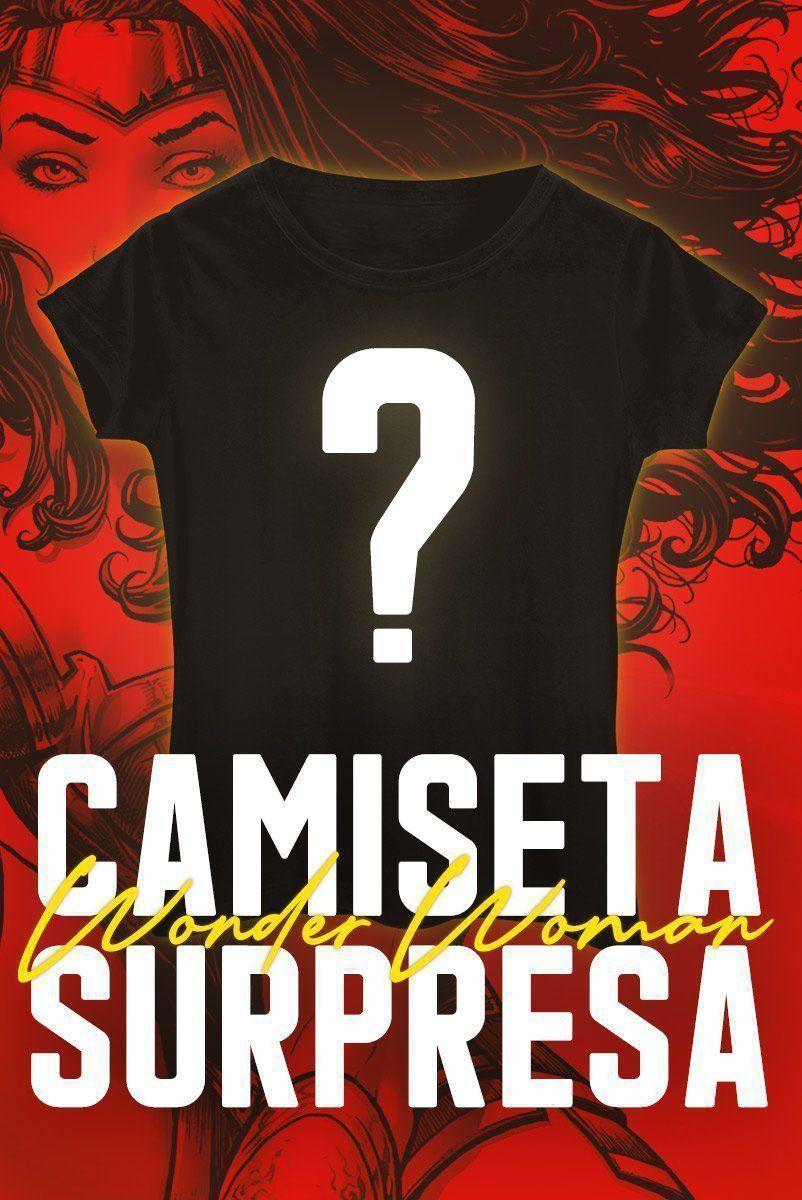 Camiseta Feminina SURPRESA Mulher Maravilha