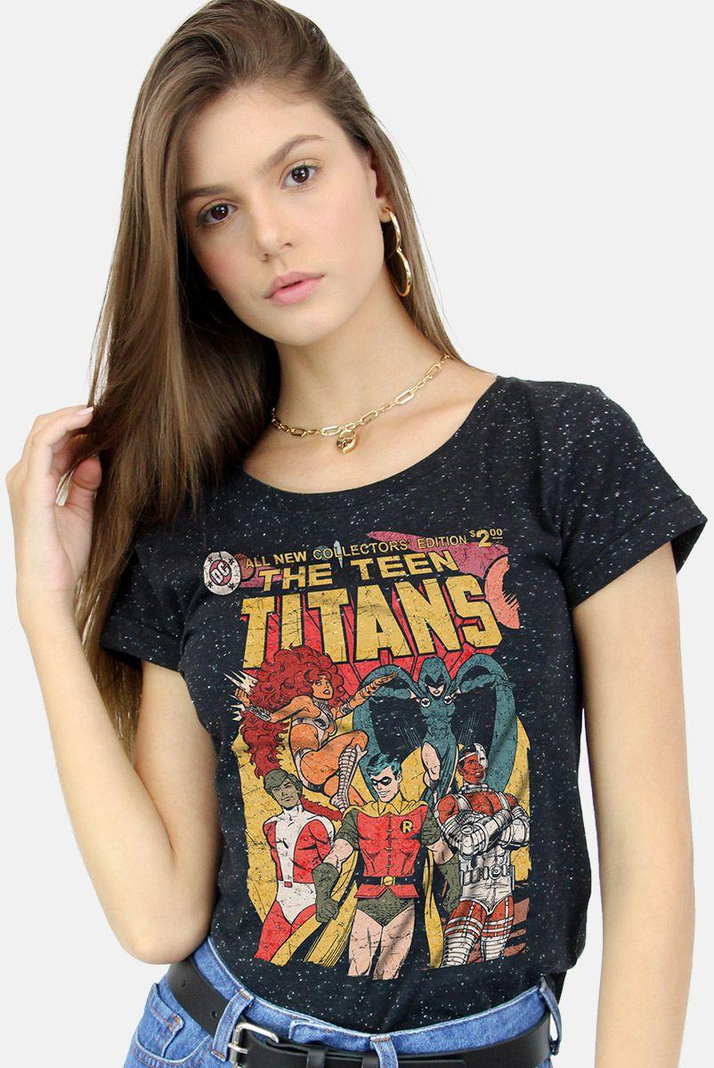 Camiseta Feminina Teen Titans HQ