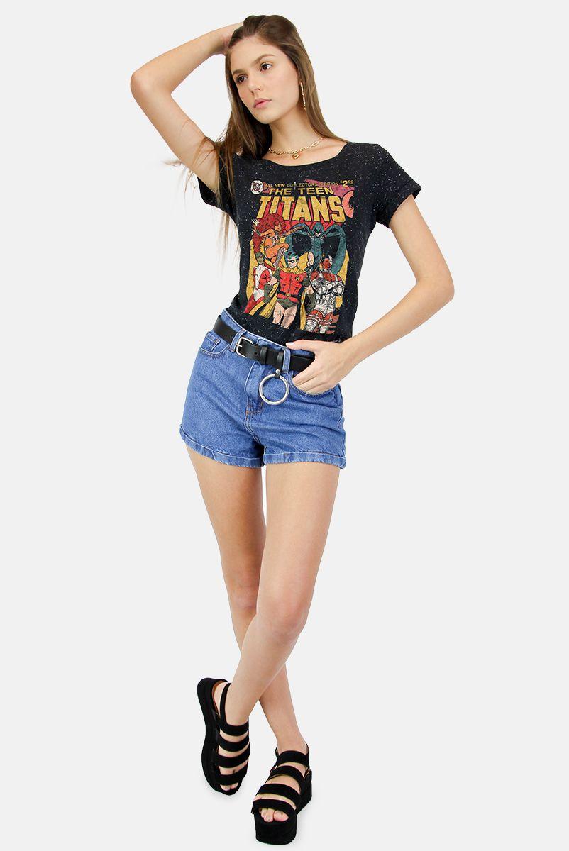 Camiseta Feminina  Jovens Titãs HQ