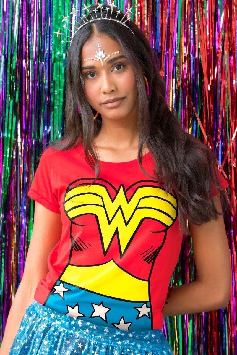 Camiseta Feminina Mulher Maravilha Body