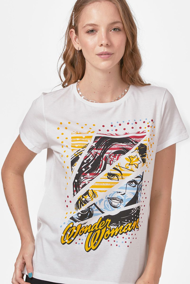 Camiseta Feminina Wonder Woman Fashion Star