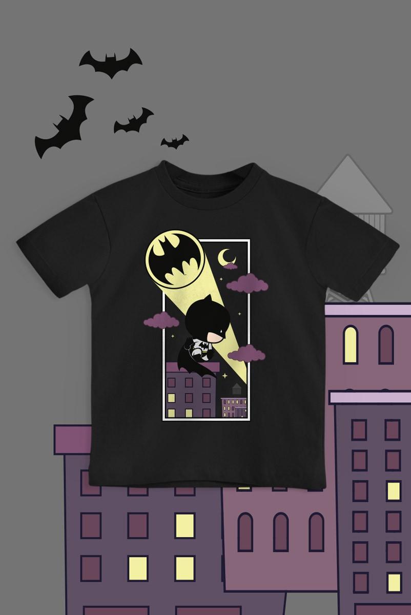 Camiseta Infantil Batman Bat-Sinal