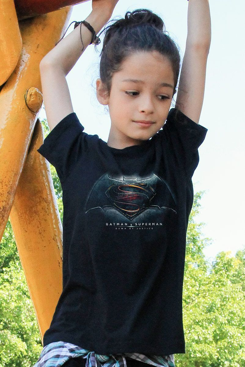 Camiseta Infantil Batman Vs Superman Dawn Of Justice