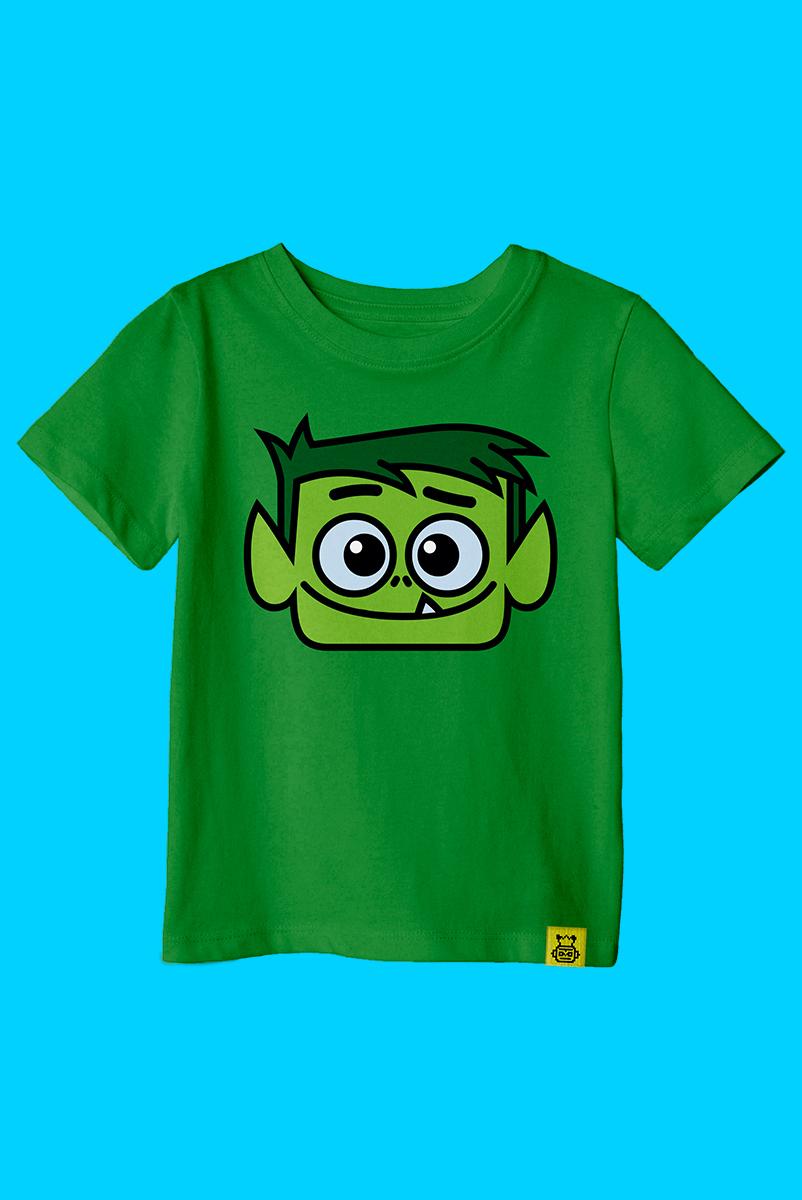 Camiseta Infantil Beast Boy Face