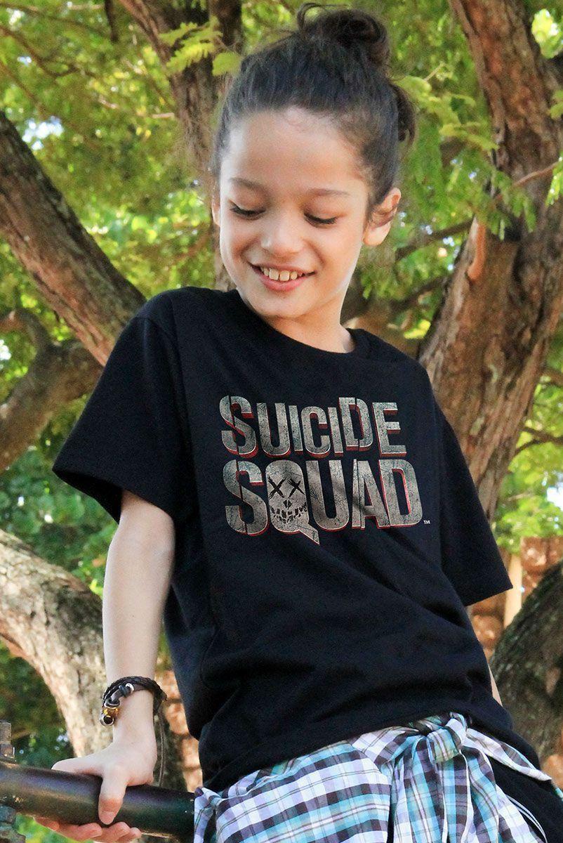 Camiseta Infantil Esquadrão Suicida Logo