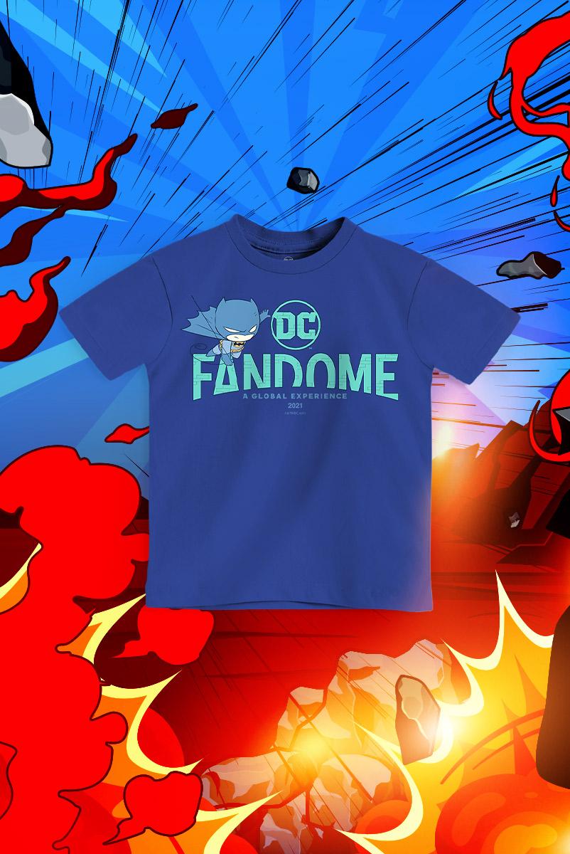 Camiseta Infantil FanDome 2021 Batman Chibi