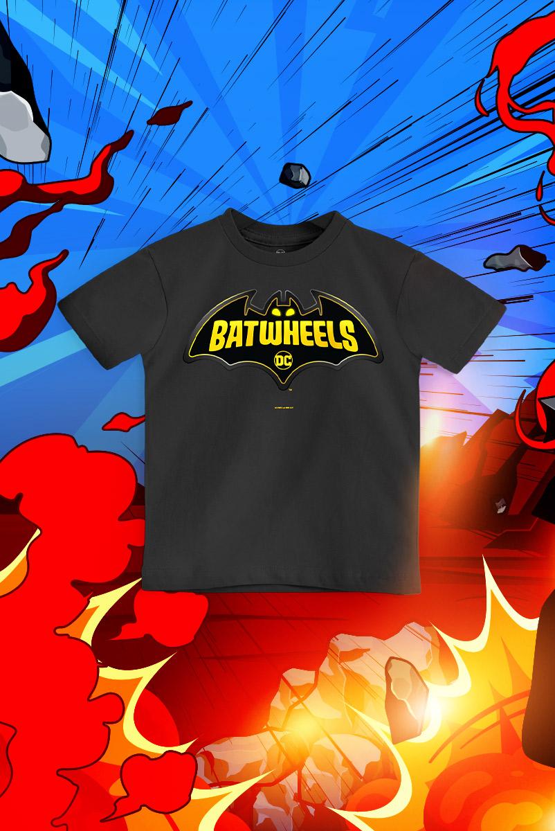 Camiseta Infantil FanDome 2021 Batwheels