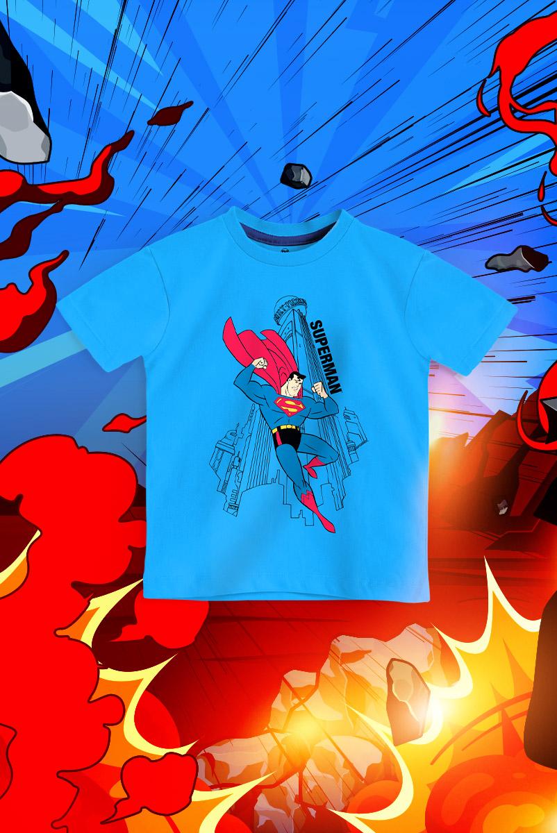 Camiseta Infantil FanDome 2021 Superman Metrópolis