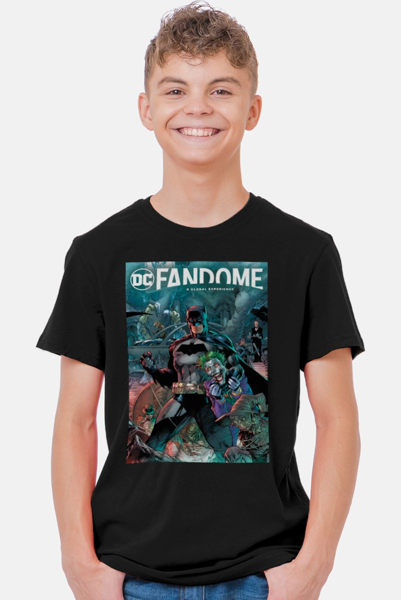 Camiseta Infantil Fandome Batman e Coringa