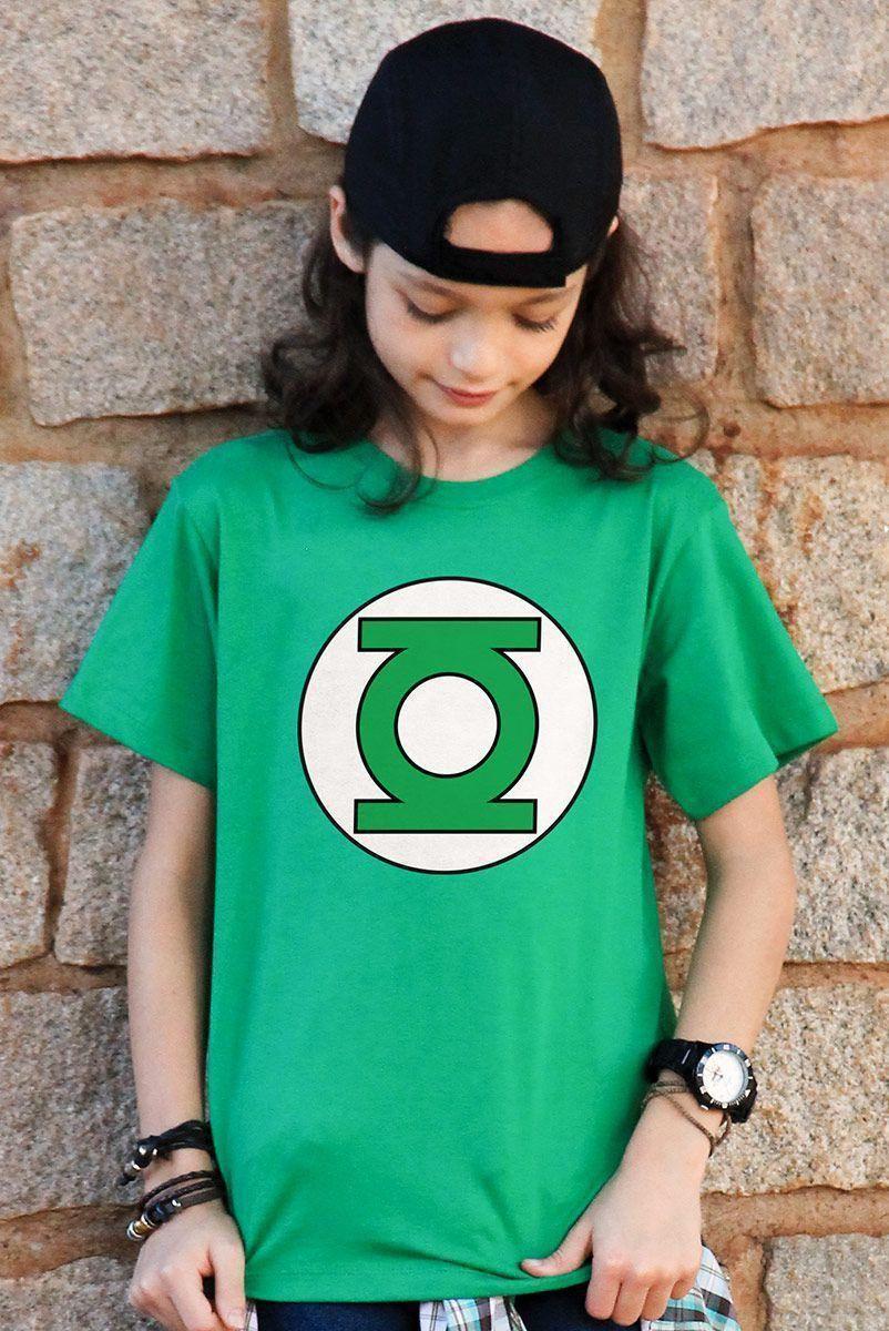 Camiseta Infantil Lanterna Verde Logo