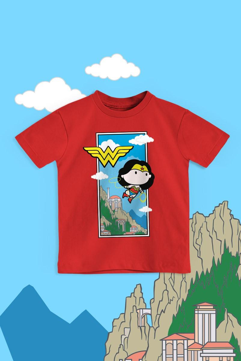 Camiseta Infantil Mulher Maravilha Fly