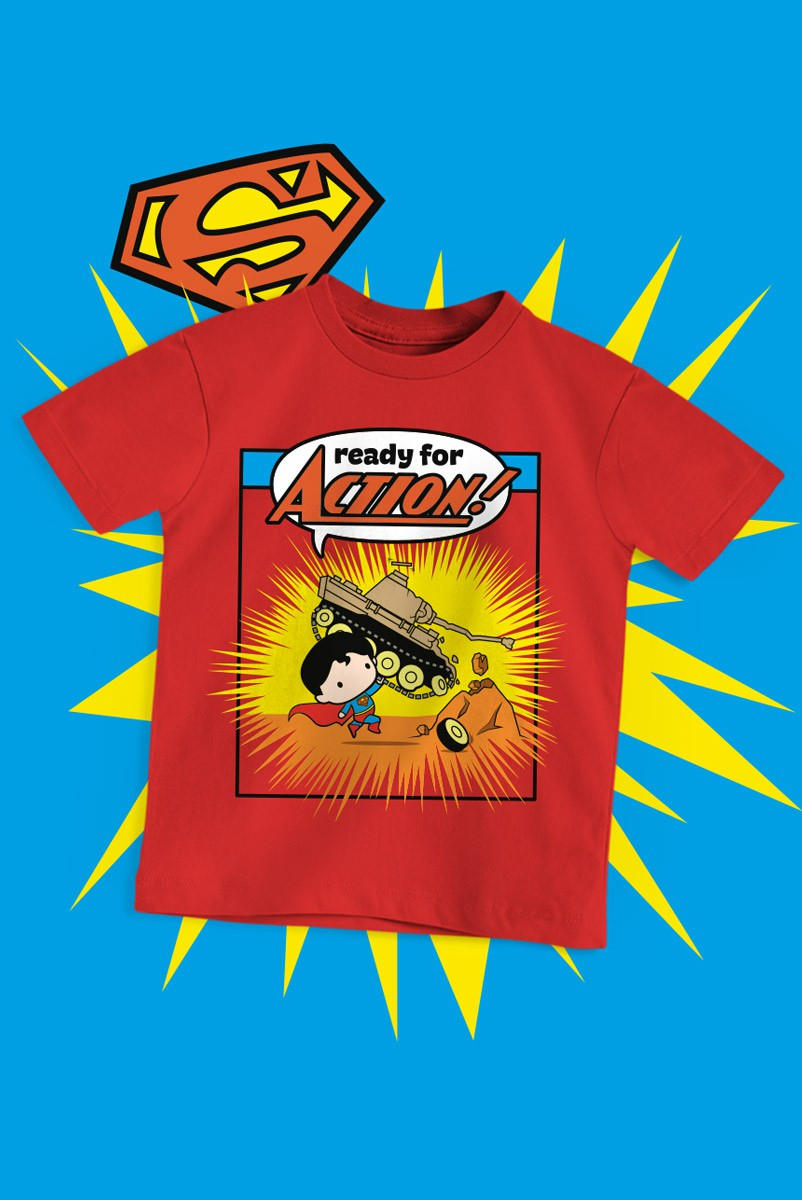 Camiseta Infantil Superman Action Comics