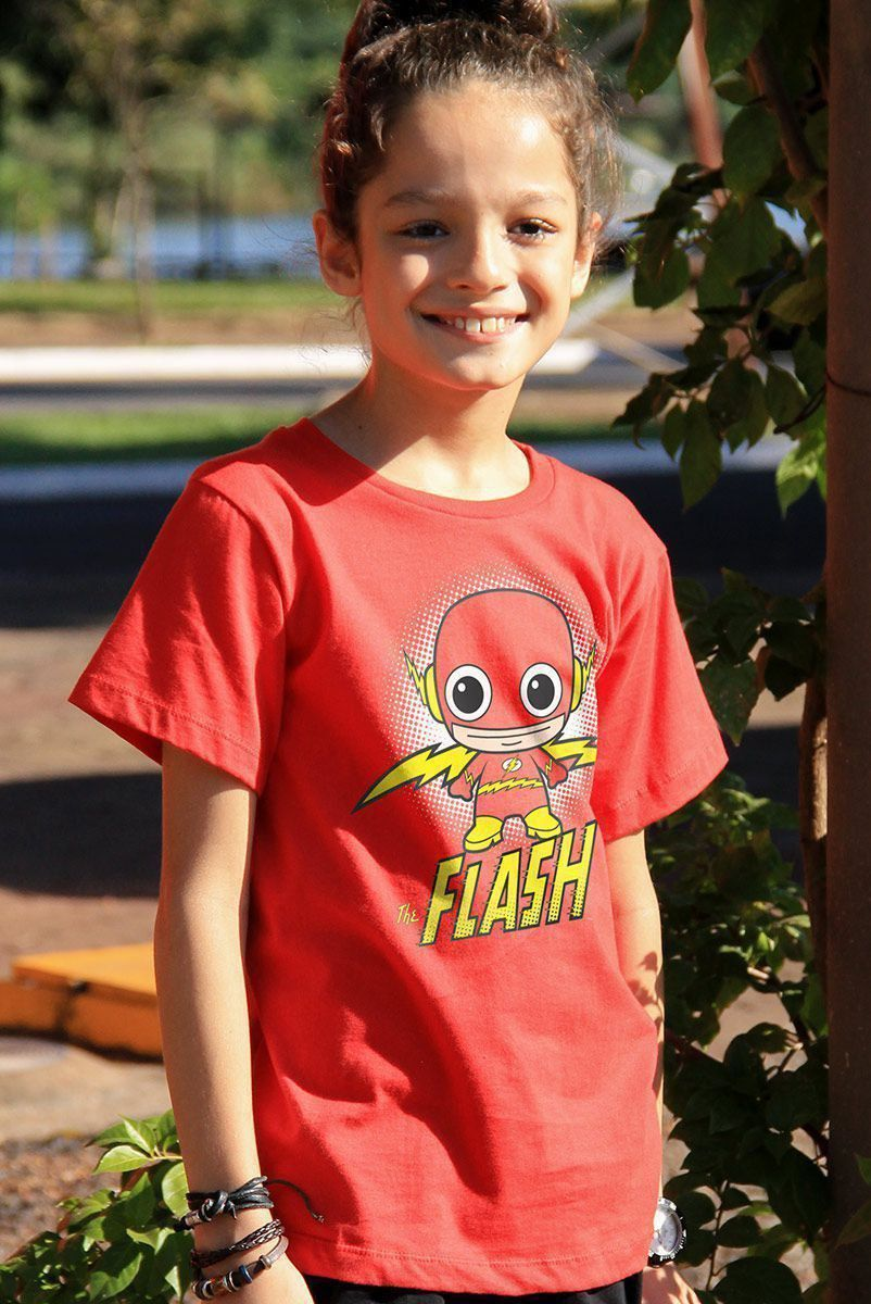 Camiseta Infantil The Flash Kid