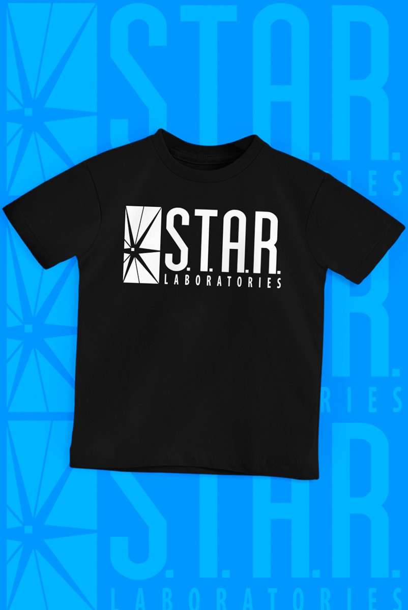 Camiseta Infantil The Flash Serie STAR Laboratories