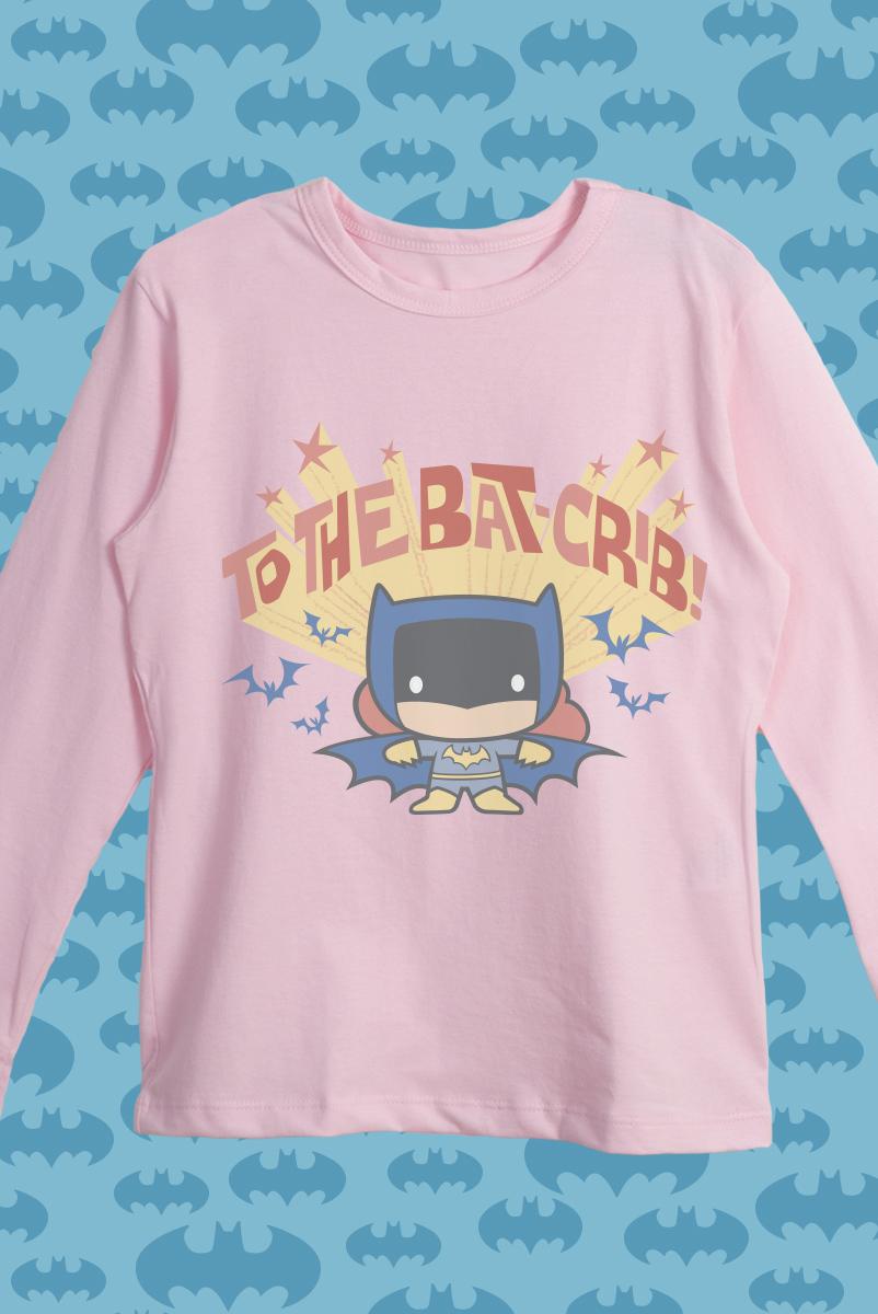 Camiseta Manga Longa Infantil Batman Bat-crib