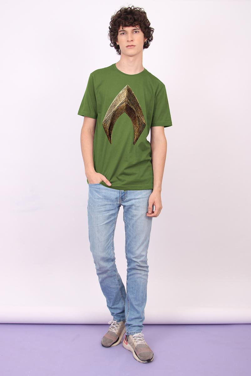 Camiseta Masculina Aquaman Logo Movie