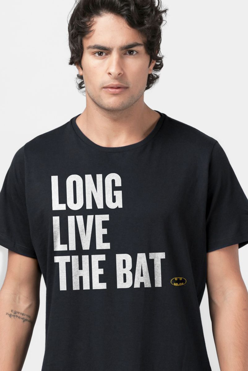 Camiseta Masculina Batman 80 Anos Long Live The Bat