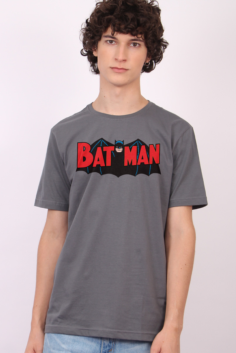 Camiseta Masculina Batman Bat Man Classic