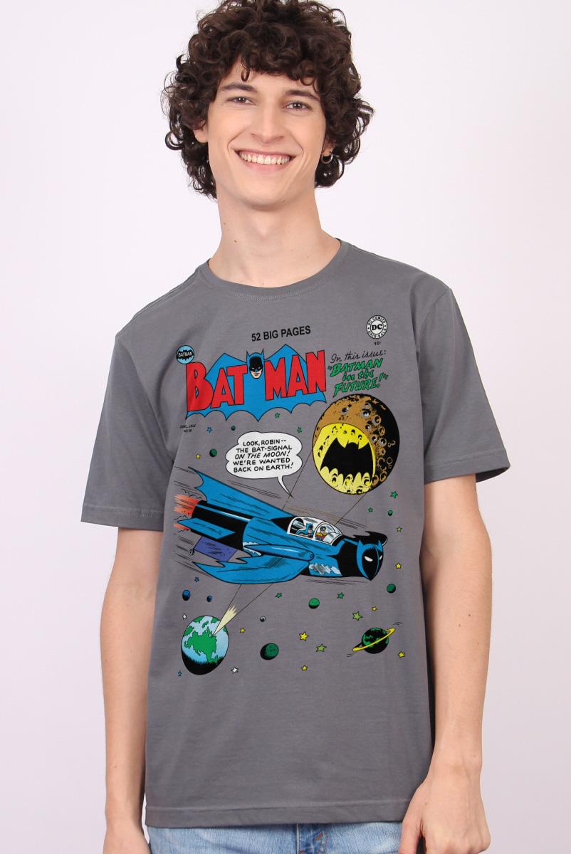 Camiseta Masculina Batman Bat-Sinal na Lua