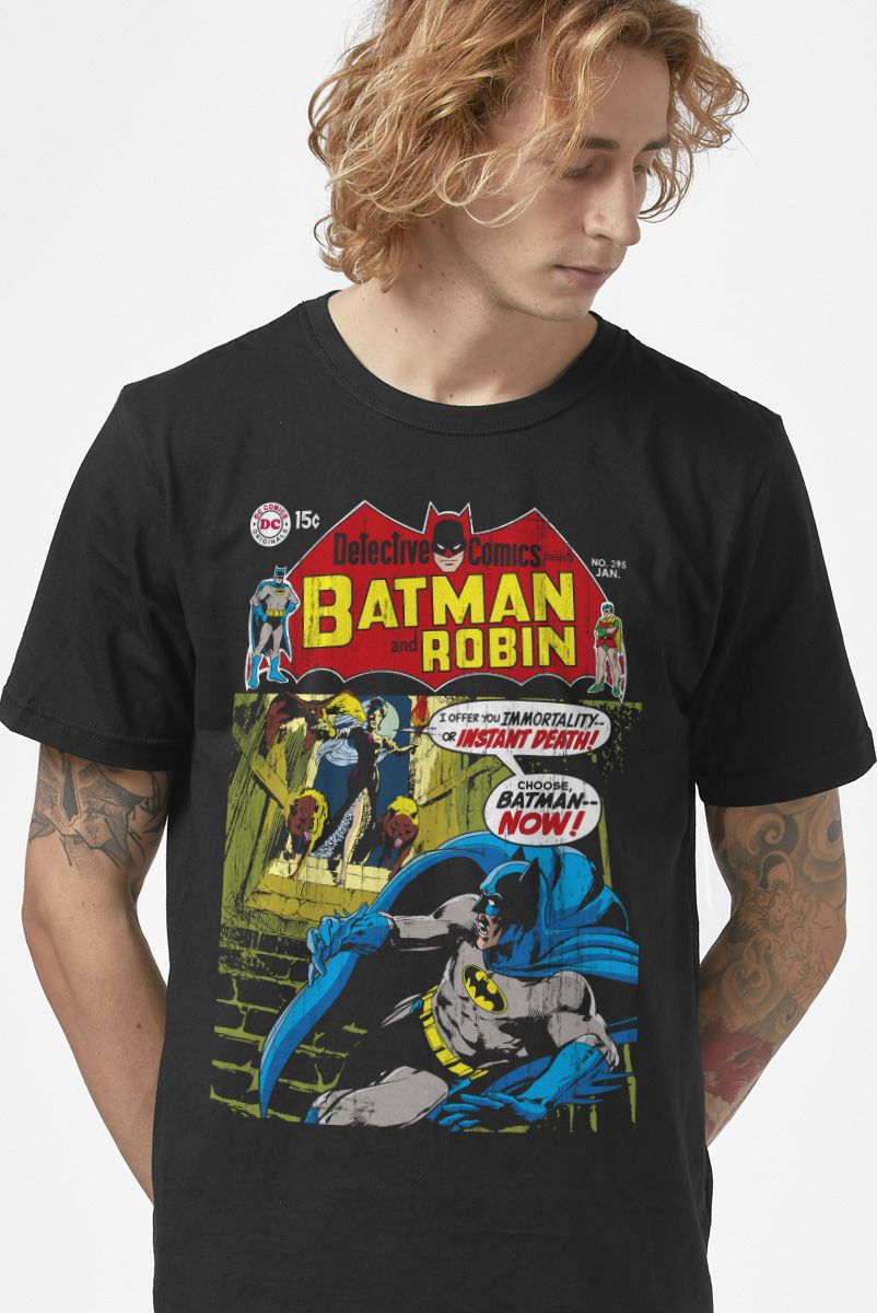 Camiseta Masculina Batman Capa Imortalidade