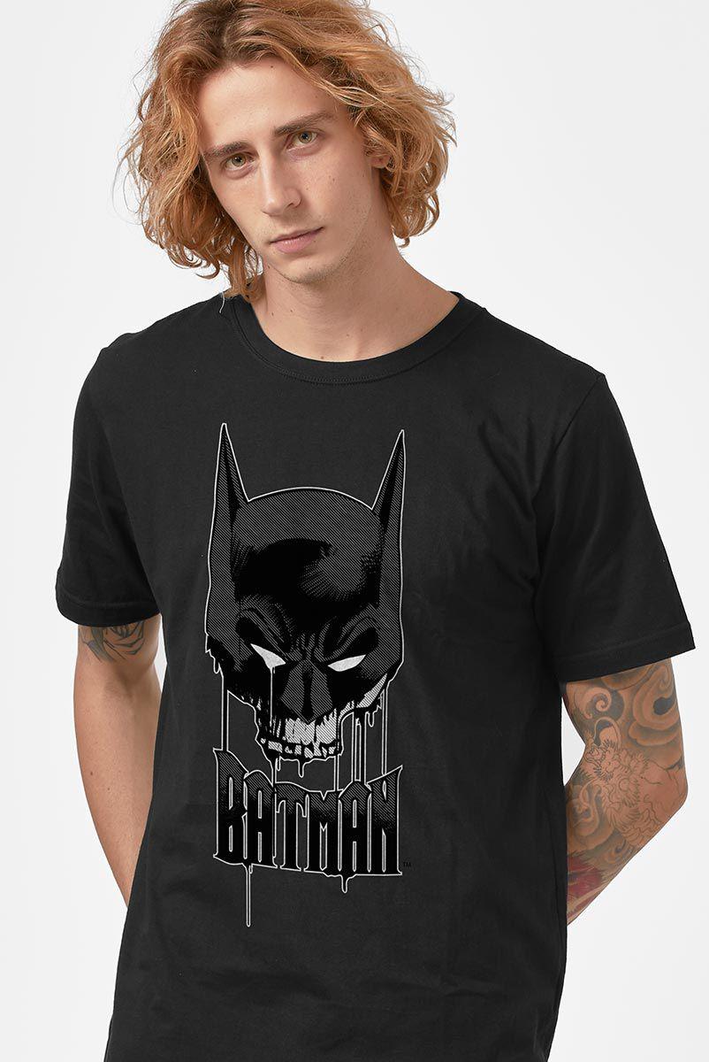 Camiseta Masculina Batman Caveira