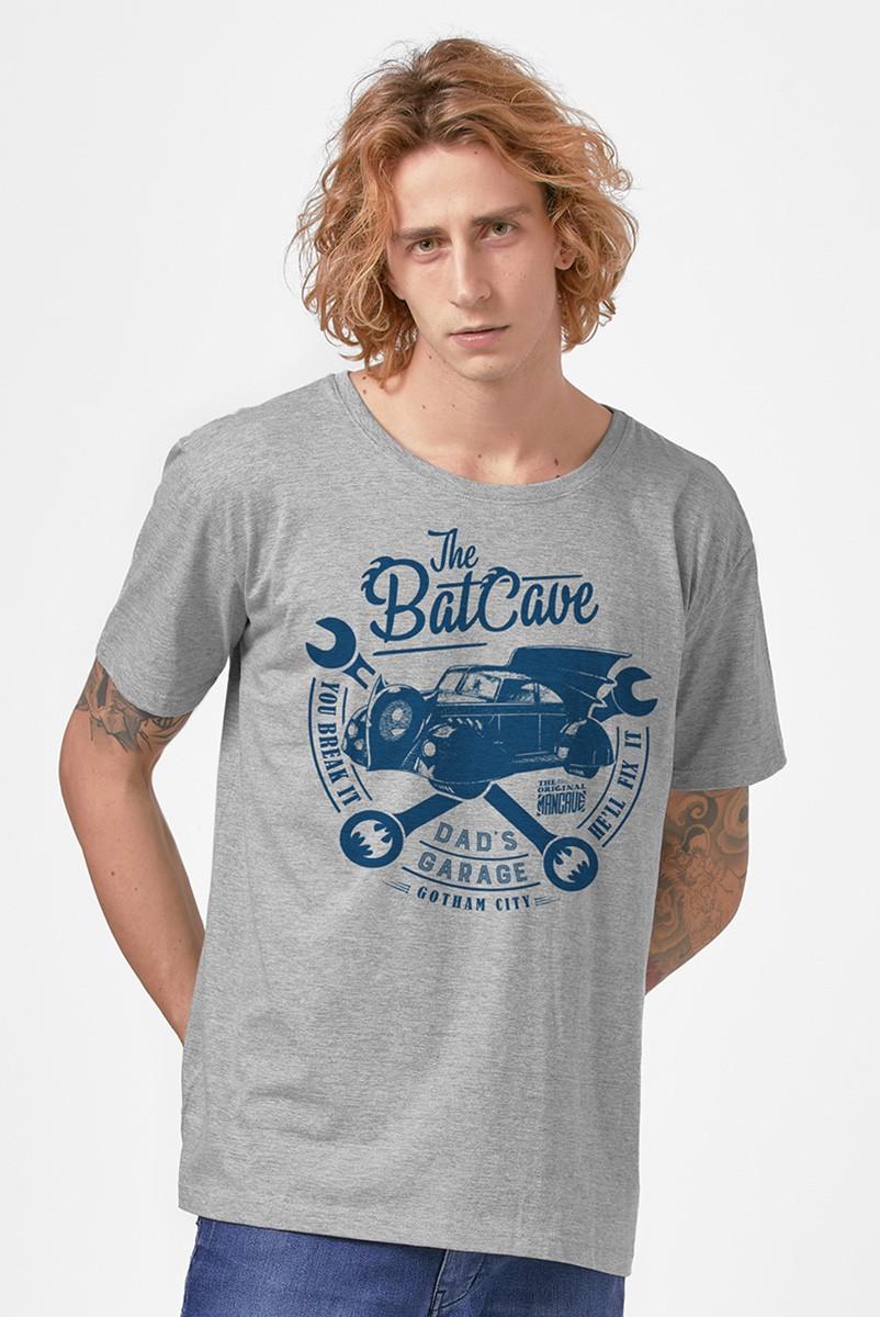 Camiseta Masculina Batman Dad's Garage