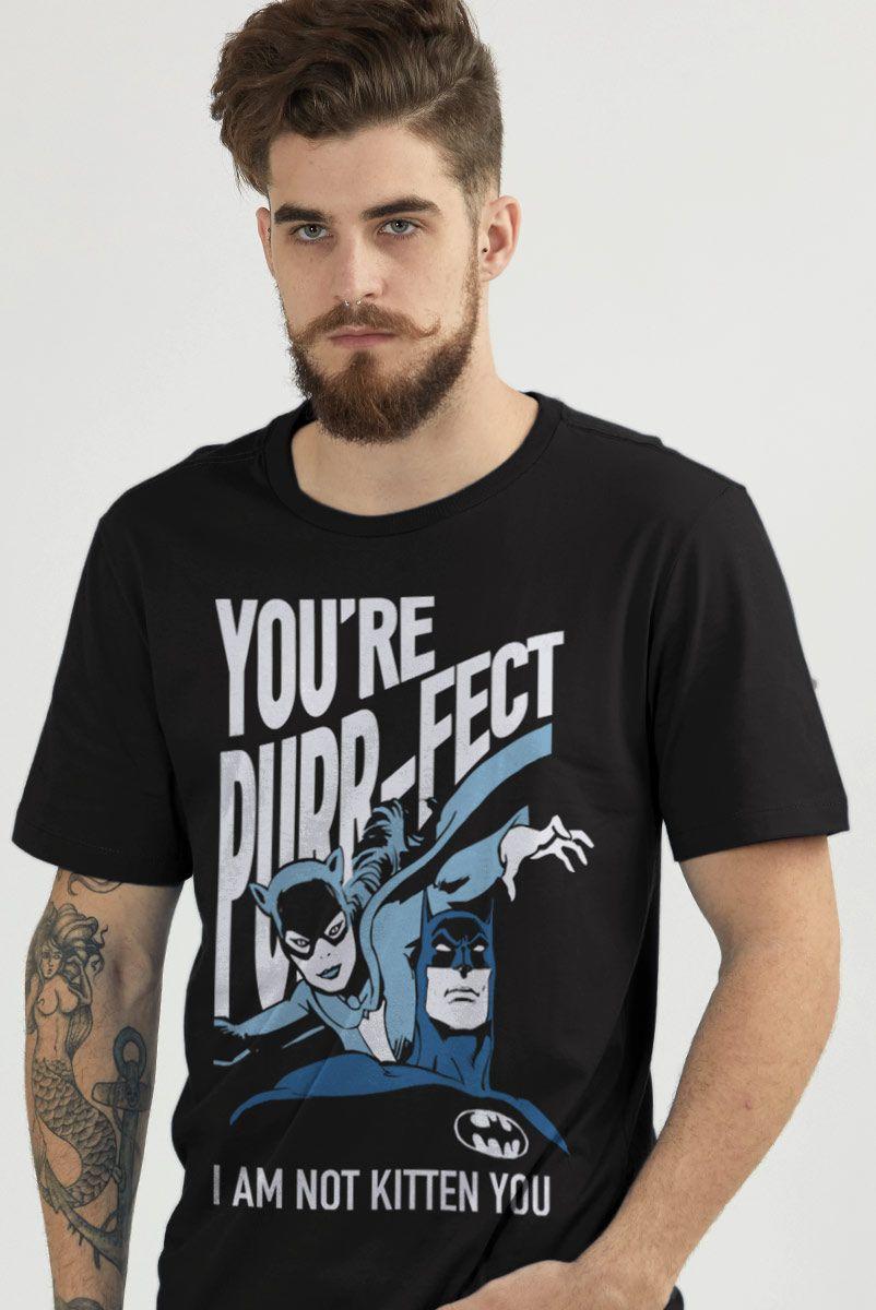 Camiseta Masculina Batman e Catwoman Não sou só uma Gatinha