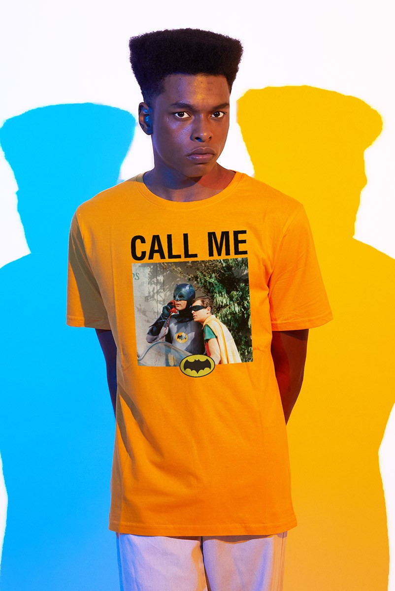 Camiseta Masculina Batman e Robin Call Me