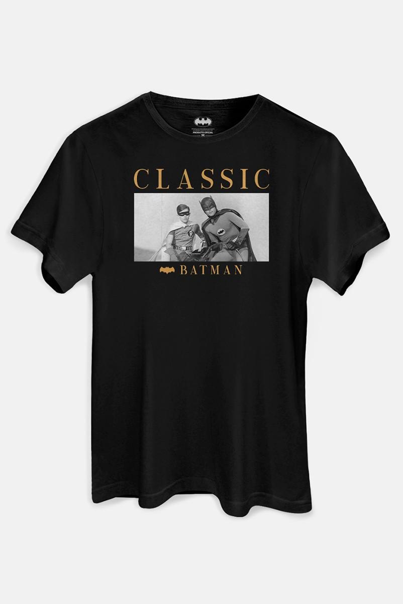 Camiseta Masculina Batman e Robin Classic 1966