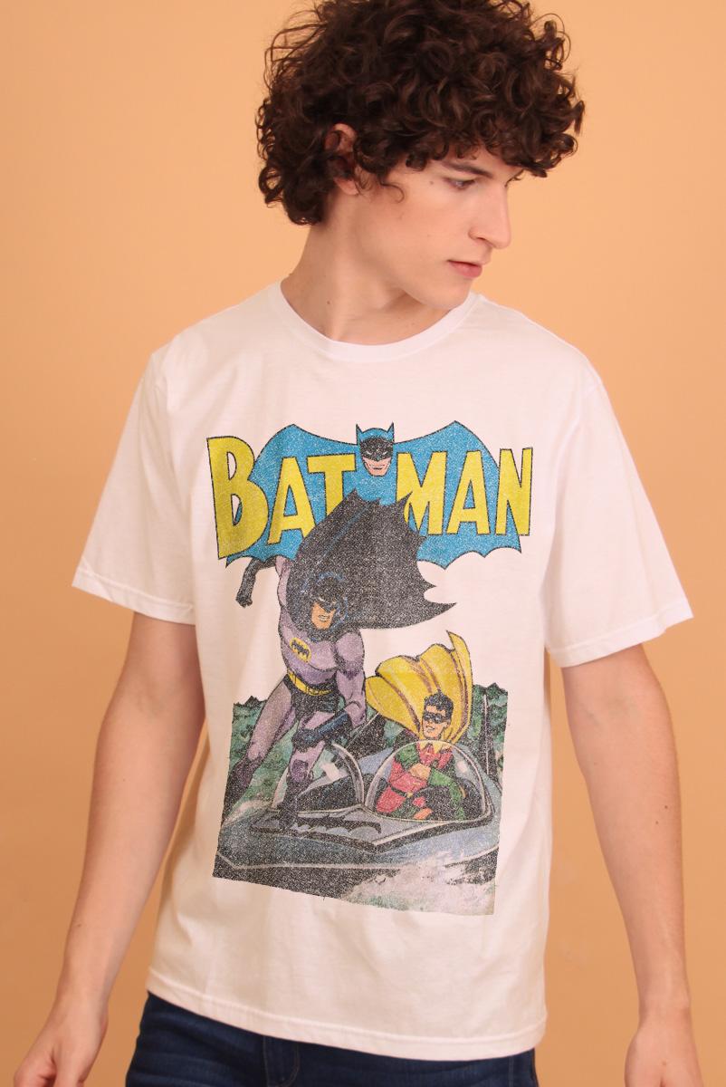 Camiseta Masculina Batman e Robin Em Ação