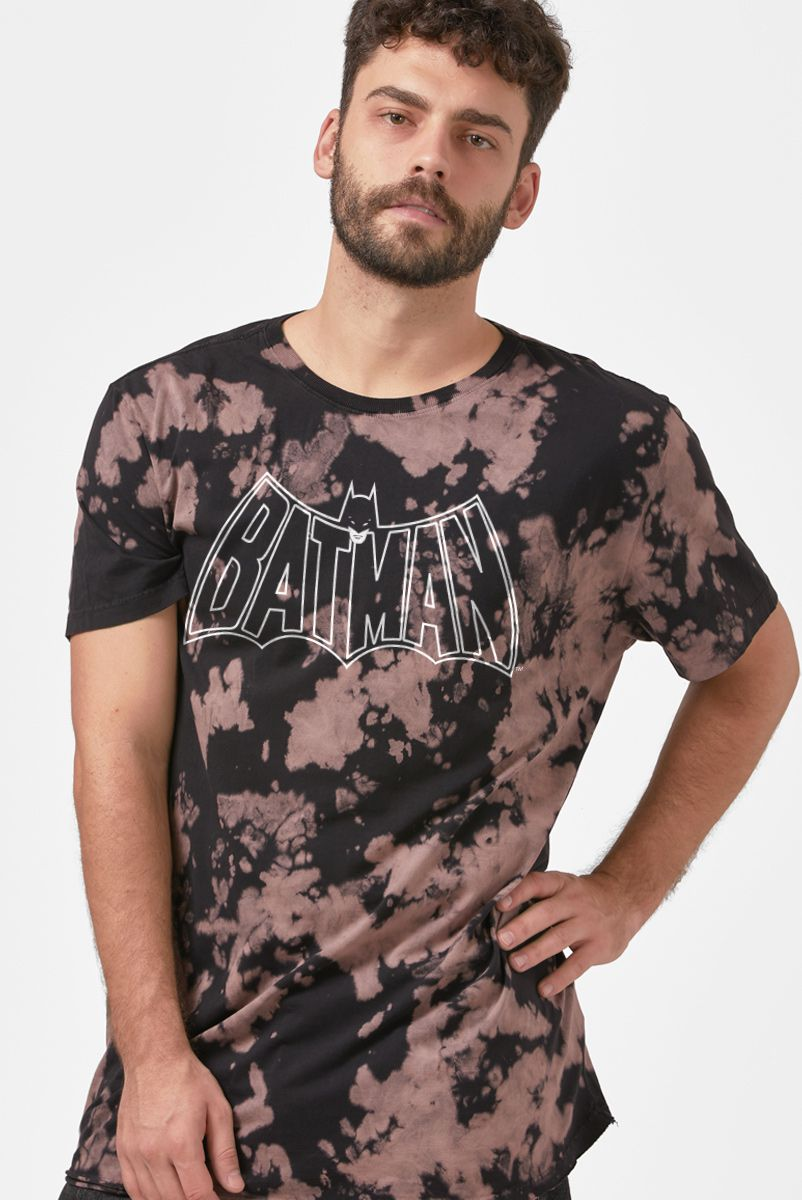 NÃO ATIVAR Camiseta Masculina Batman Logo 60's