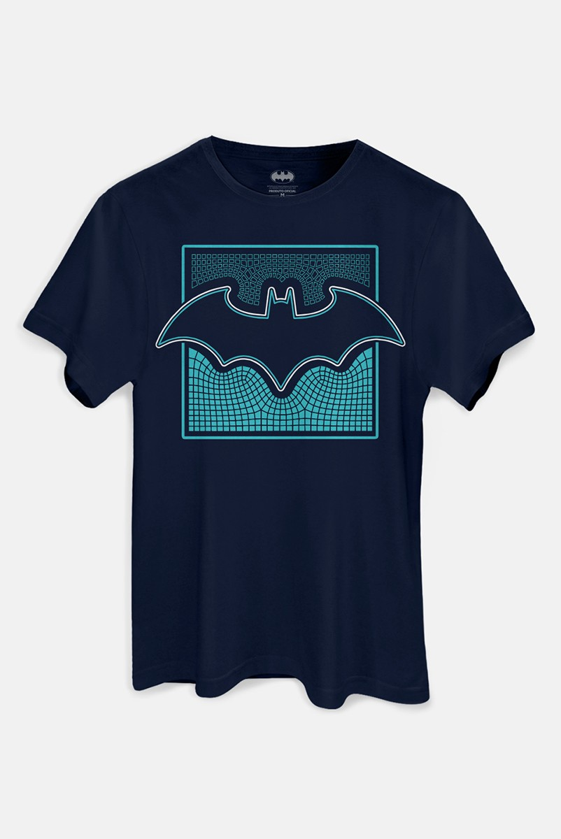 Camiseta Masculina Batman Logo Dimensões