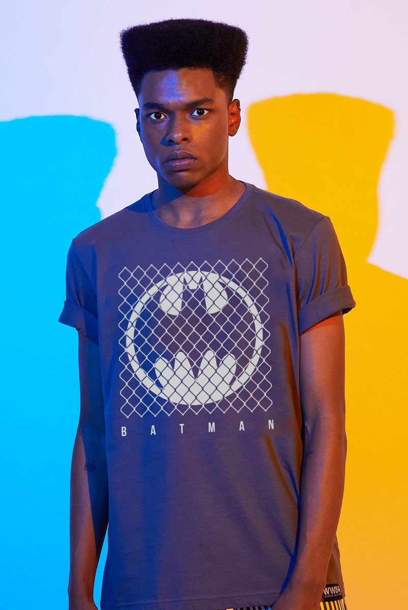 Camiseta Masculina Batman Logo Grade
