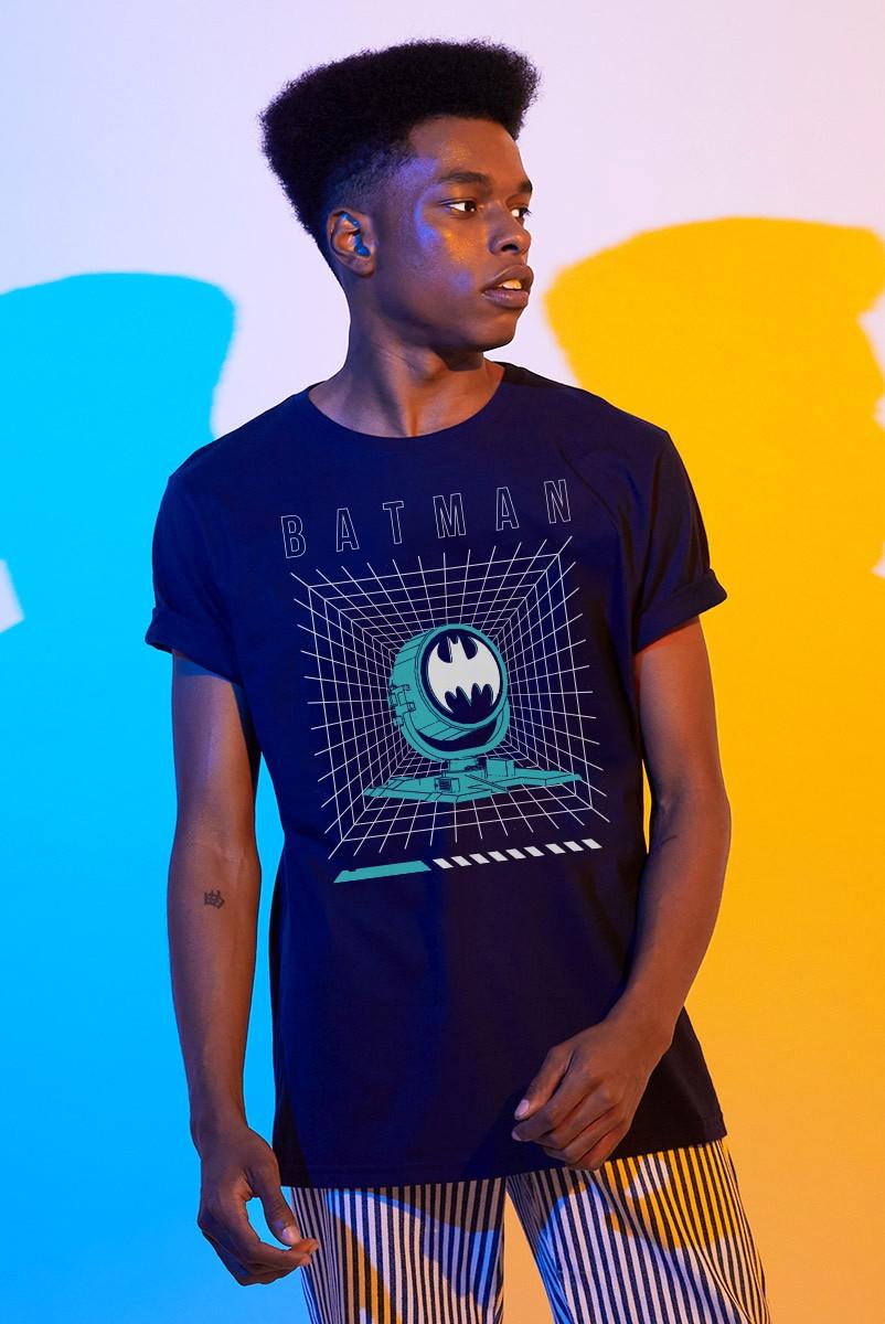Camiseta Masculina Batman Logo Holofote