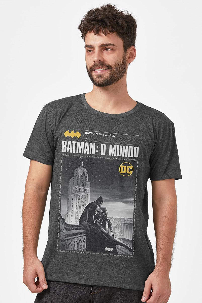 Camiseta Masculina Batman O Mundo Brasil