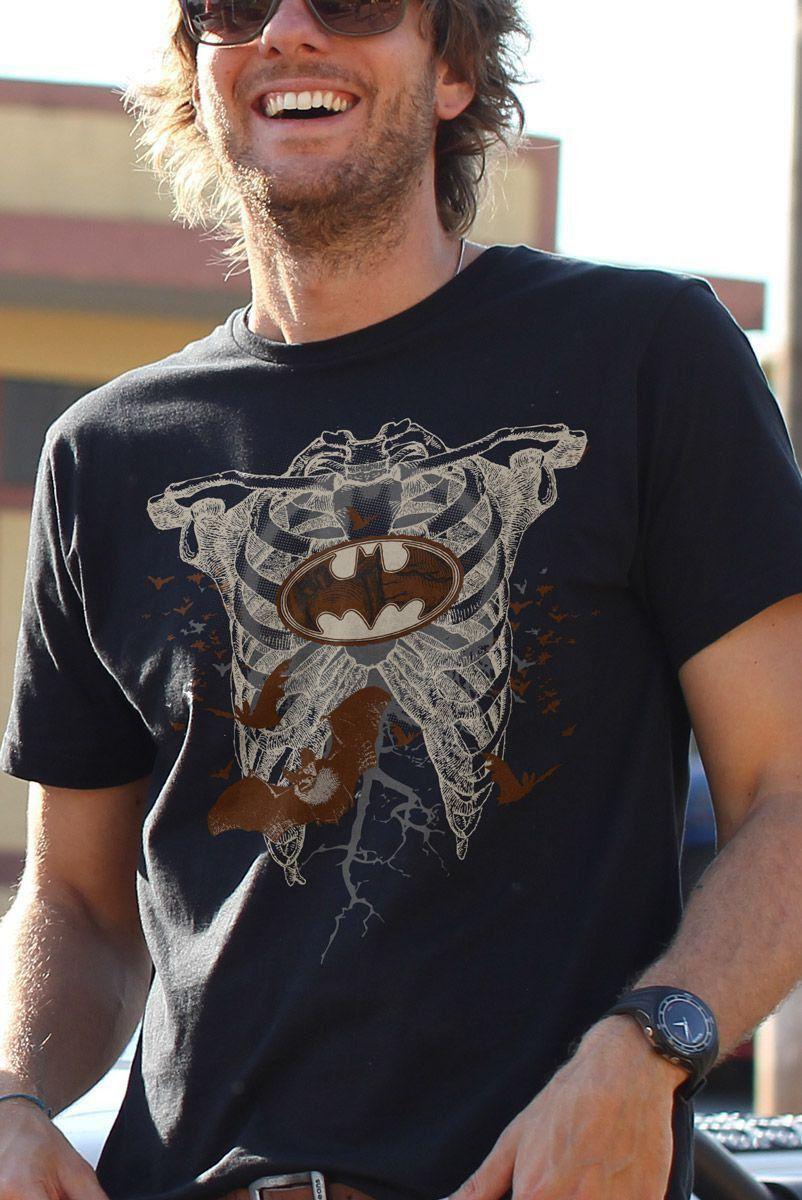 Camiseta Masculina Batman Skull