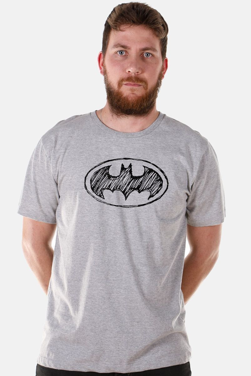 Camiseta Masculina Batman Tracing Logo