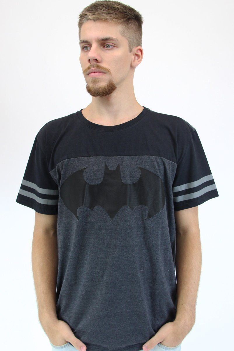 Camiseta Masculina Bicolor Athletic Batman Logo Classic