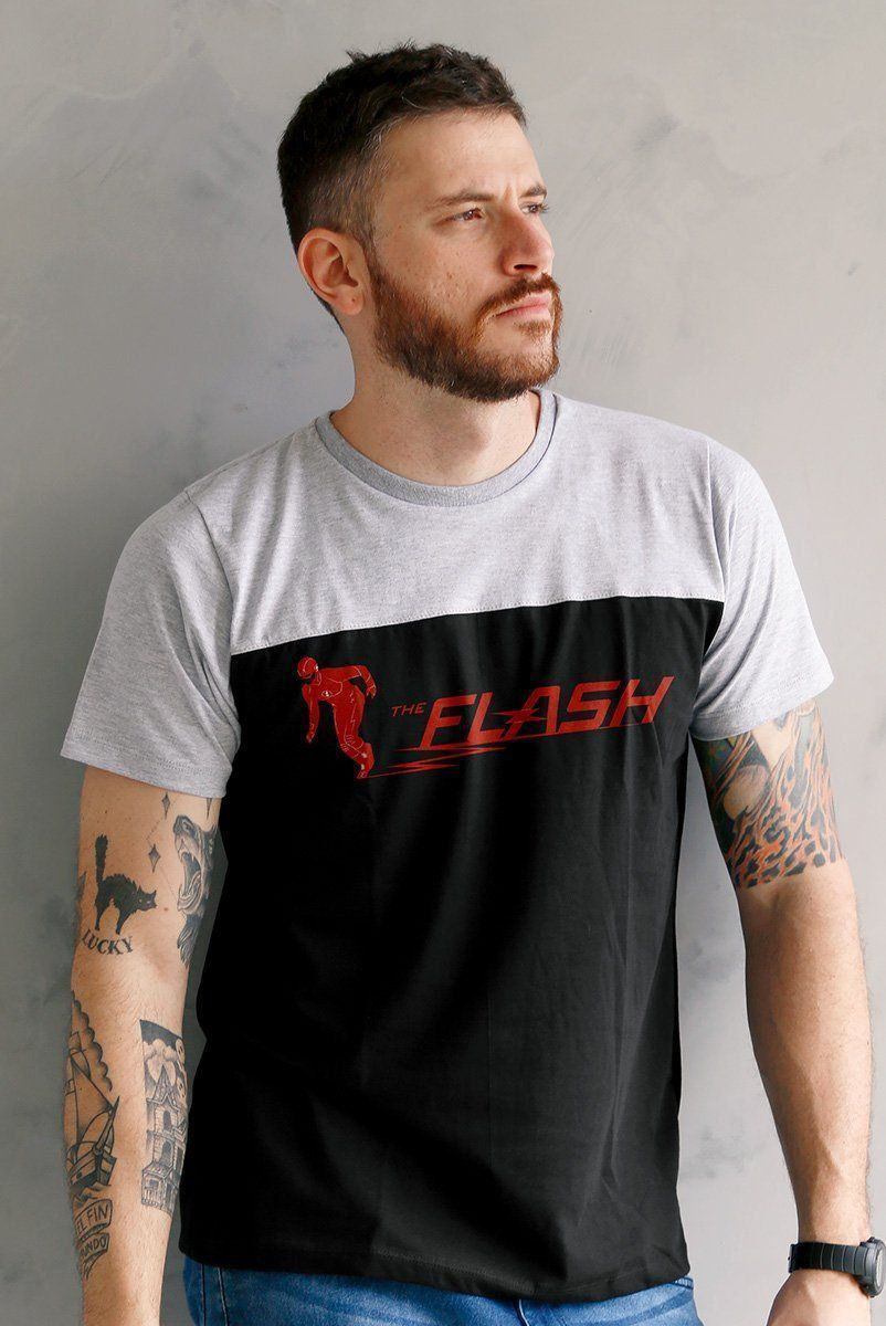 Camiseta Unissex Bicolor The Flash Way To Go