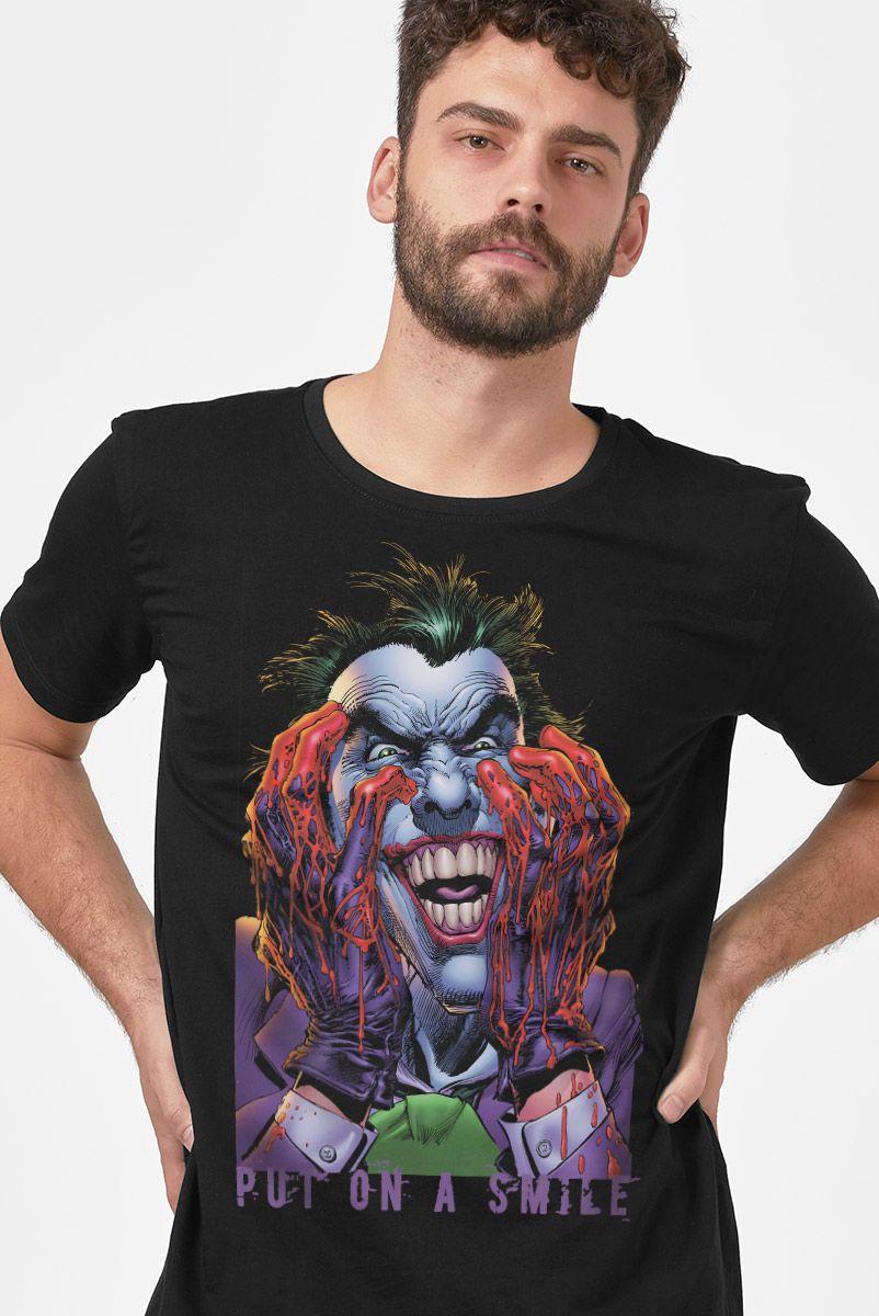 Camiseta Masculina Coringa Coloque um Sorriso