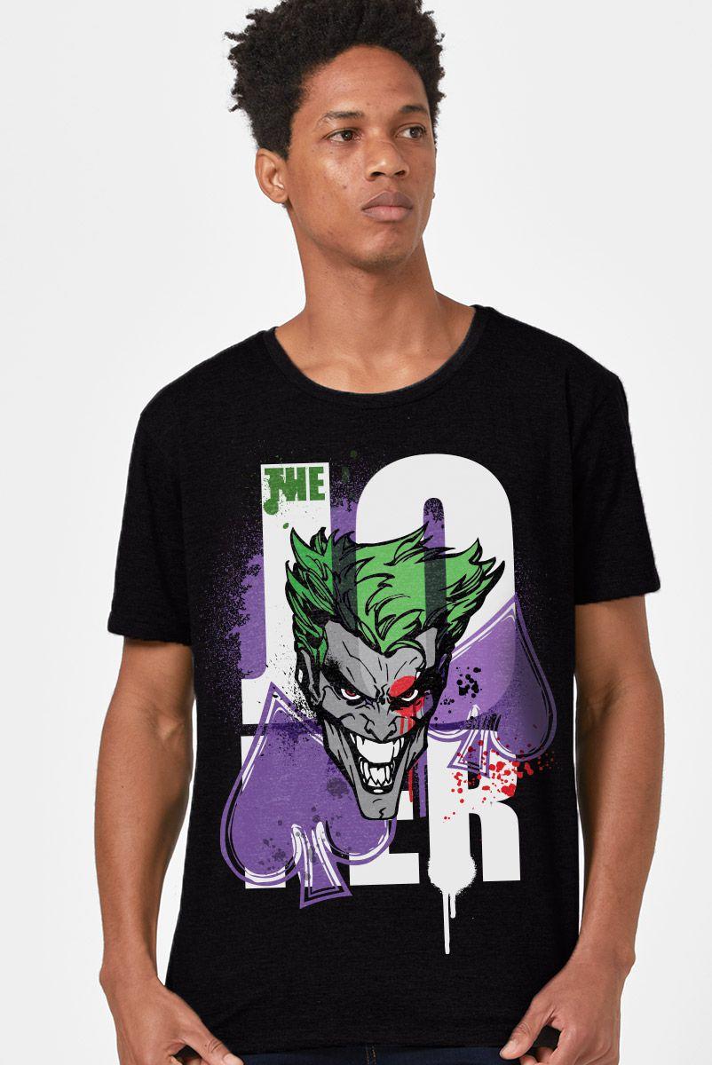 Camiseta Masculina Coringa Grafite