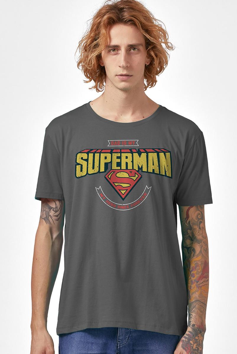 Camiseta Masculina Dad is my Superman