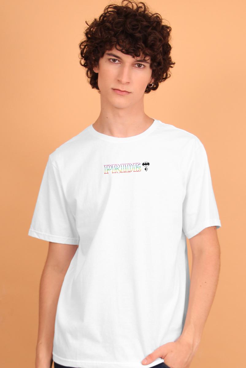 Camiseta Masculina DC Logo Pride